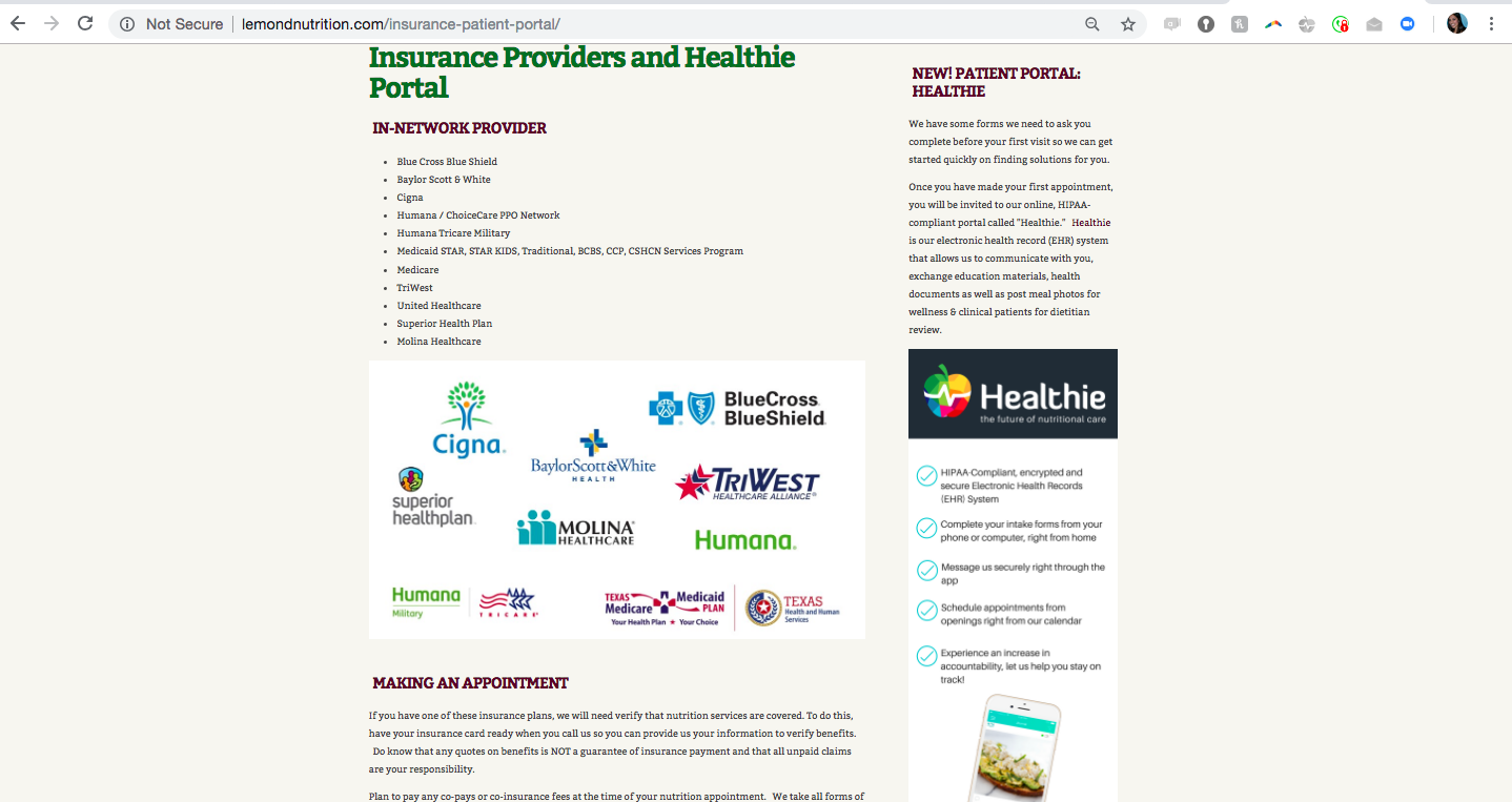 Provider examples - websites - Healthie Software Support