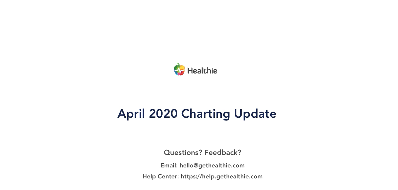April 2020 Charting Update