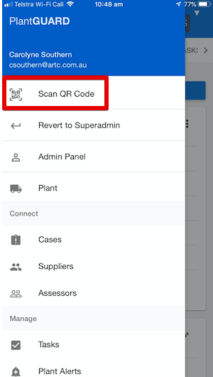 How to scan a QR Code - Mobile Device - PlantGUARD Knowledge Base