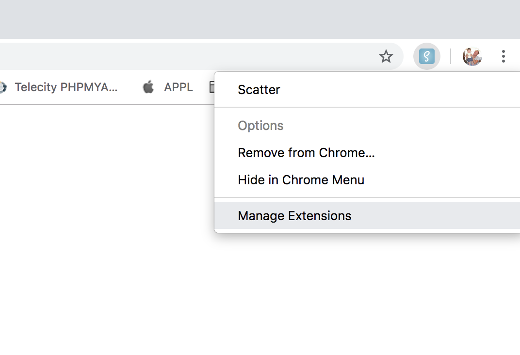 How to disable the Chrome extension - GetScatter Ltd