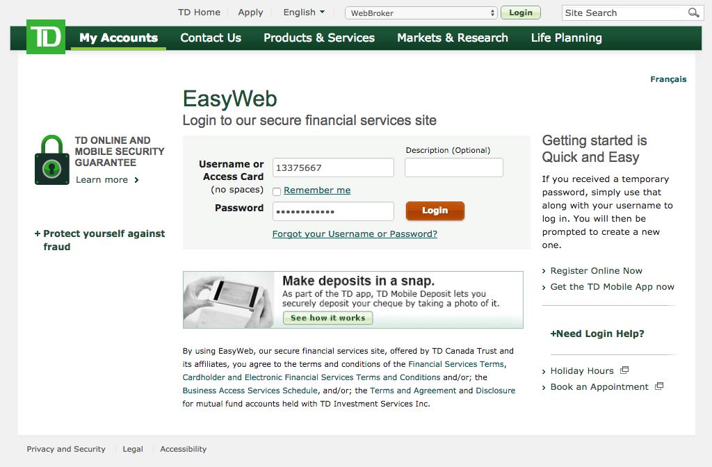 Td Bank Easy Web Login – WW Auth