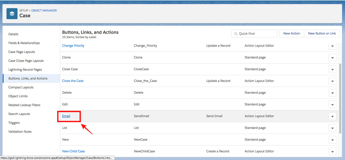 Setting default email template in Salesforce Service Cloud