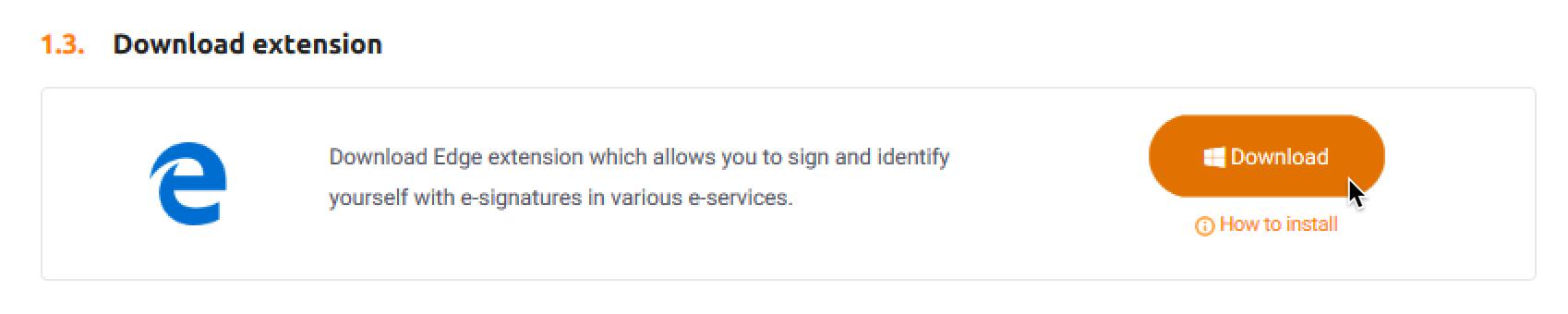 Microsoft Edge extension and e-signature device drivers