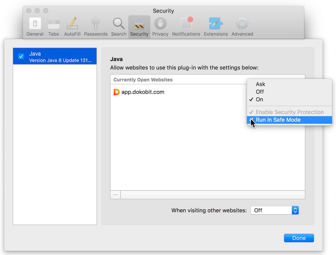 Using Smart cards and USB tokens with Safari (Safari version