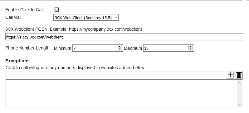 Click to Call extensie - FoundCOM Knowledge Base