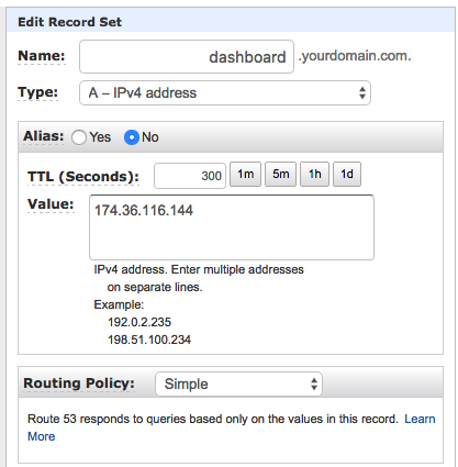 Setting up DNS in Amazon Route 53 - Support Portal