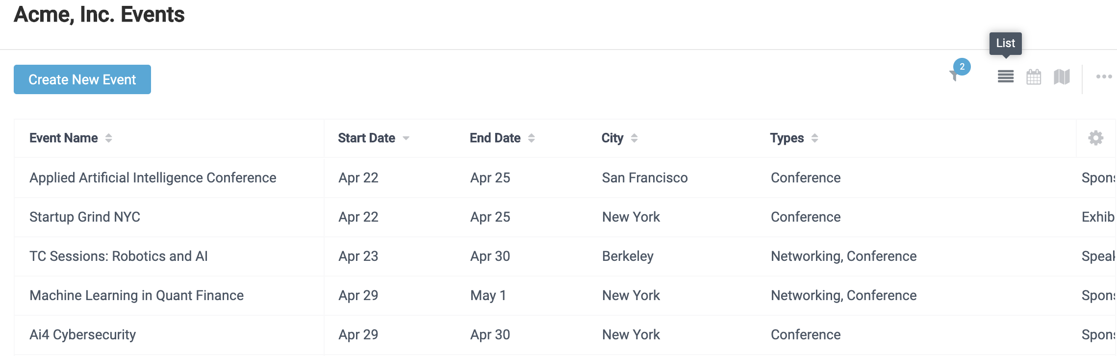 How do I view my events on a calendar or map? - EventGeek Support Center