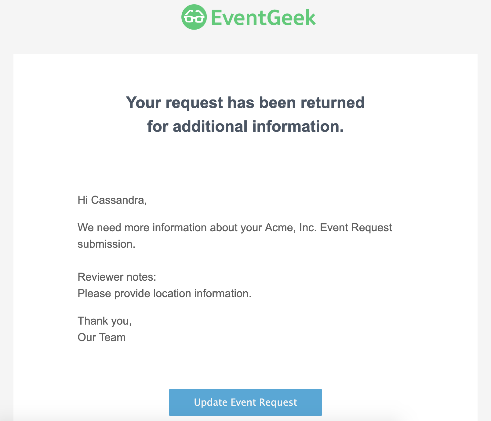 How can I update an Event Request I submitted? - EventGeek