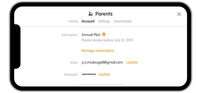 How do I update my account info or change my email? - Sago Mini