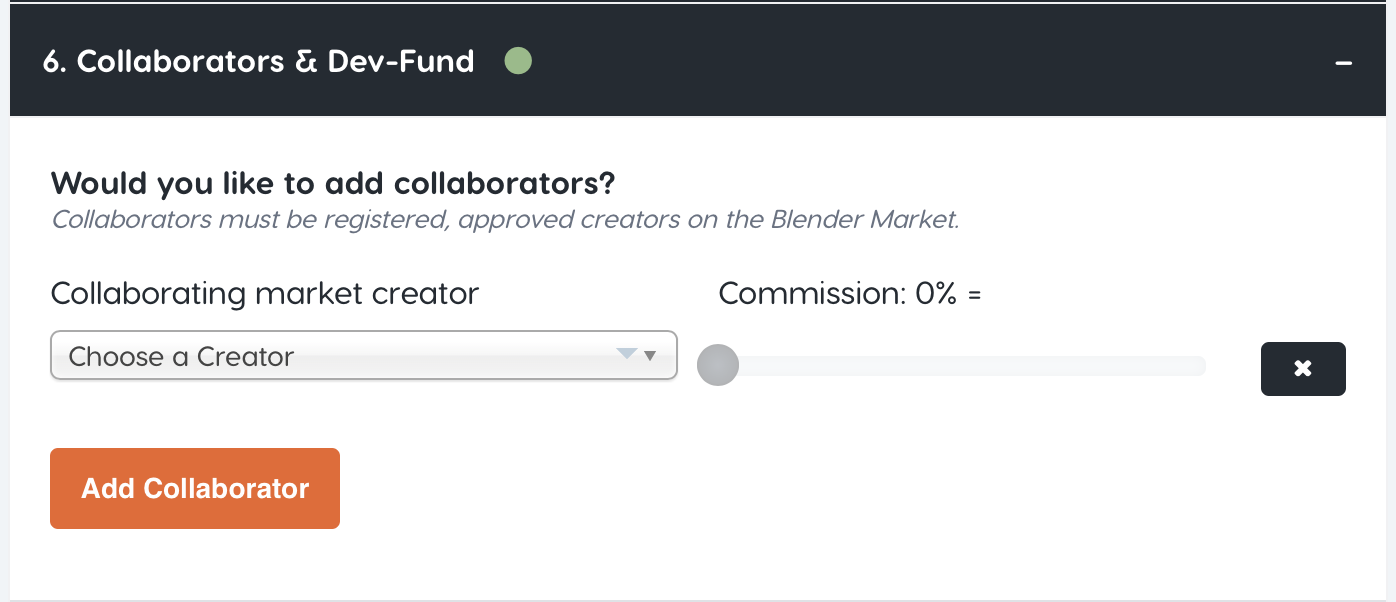 Adding collaborators to a product