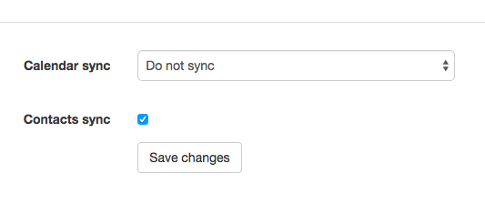 Sync with your Google Apps account