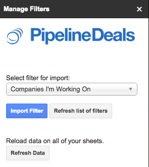 Manage filters