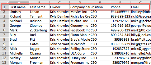 Prepare Your CSV or Excel file: Companies - Knowledge Base