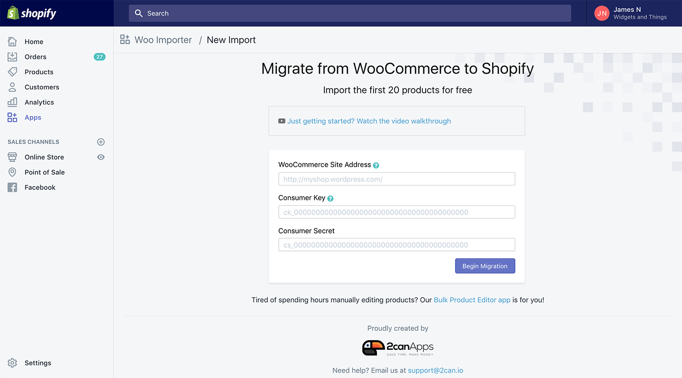 Importing Products from WooCommerce to Shopify - Ablestar Knowledge Base
