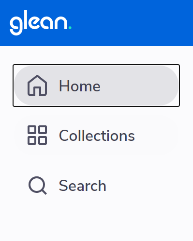 home tab selected in sidebar