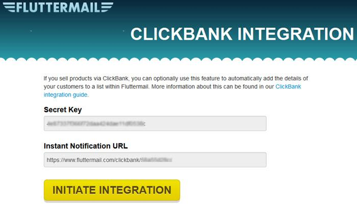 Clickbank and Fluttermail Integration