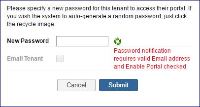 resetting co-renter portal password