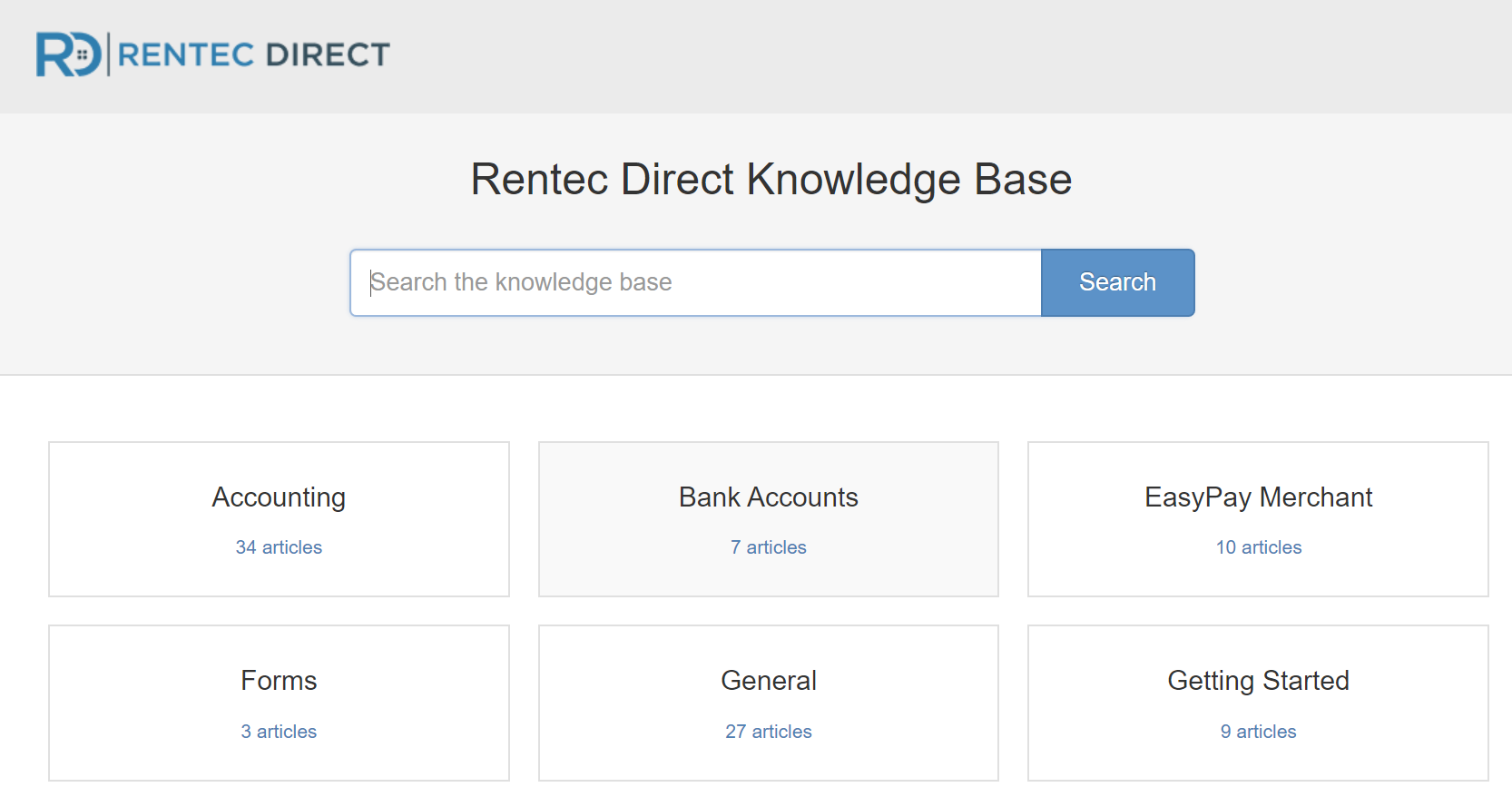 Rentec Direct Knowledge Base