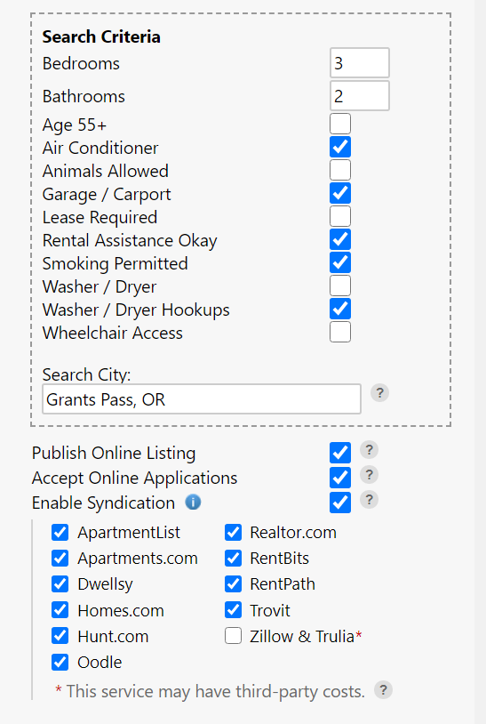 Marketing a Rental Listing and Accept Applications