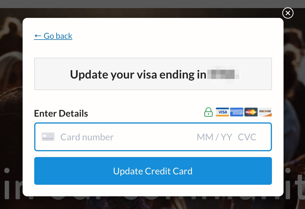 how to update your credit card  memberspace help docs