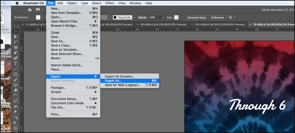 File - Export - Export As