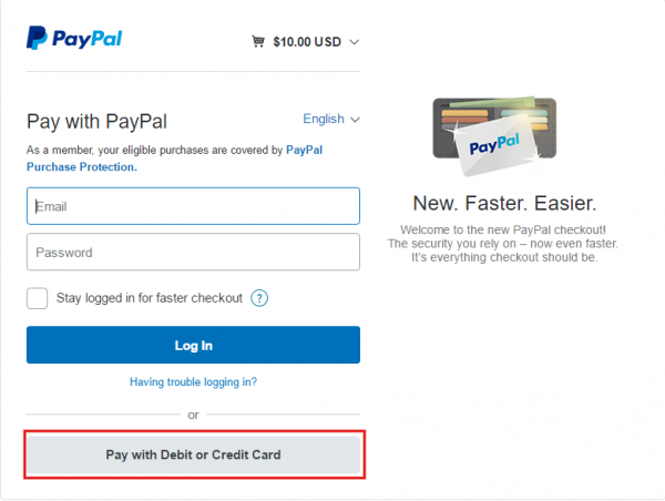 i don't have a paypal account can i still purchase your