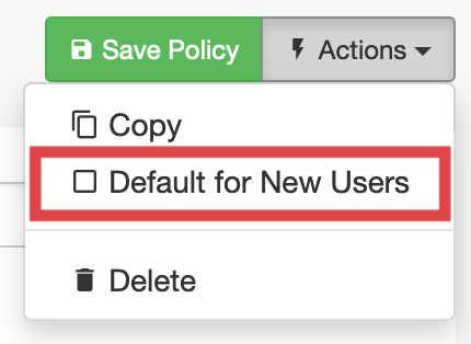 Default Policy option