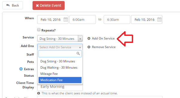How To Add Additional (Add On) Fees To An Event - Event Edit Screen