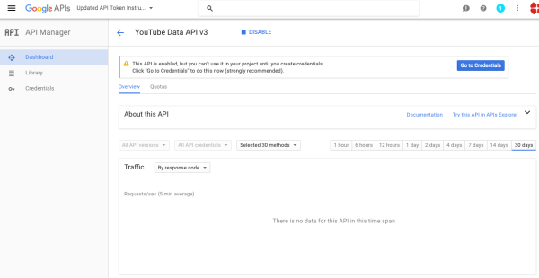 How to generate YouTube API key for Video Importer WordPress plugin